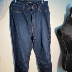 FN dark wash high waist stretch skinny jeans